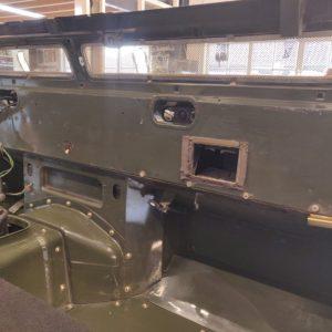 1992 LR LHD Defender 3 dr 200 Tdi Eastnor 2 day 5 bulkhead bare