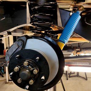 1994 LR LHD Defender 110 5 dr Green RR setup repbuild, new rotors, Bilstein shocks