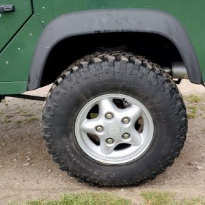 1995 LR LHD Defender 110 Conisten Green 300 Tdi alloy wheels