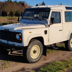 1987 LR LHD 90 White Td ex SP A left front