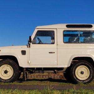 1987 LR LHD 90 White Td ex SP A left side