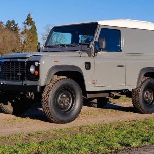 1993 LR LHD Defender 90 200 Tdi Grey B left front low