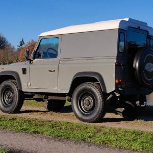1993 LR LHD Defender 90 200 Tdi Grey B left rear