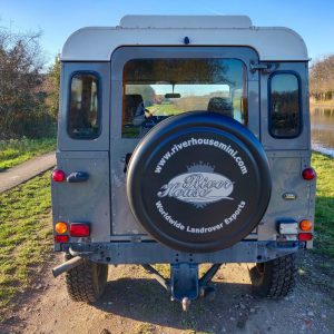 1993 LR LHD Defender 90 200 Tdi Grey B rear
