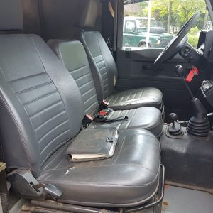1993 LR LHD Defender 90 200 Tdi Grey front seats