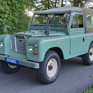 1976 Series 88 Pastel Green Petrol left front in the woods