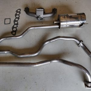 1976 Series 88 Pastel Green Petrol new stainless exhaust