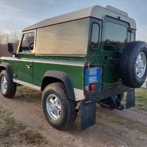 1995 LR LHD Defender 90 Conisten Green 300 Tdi left rear