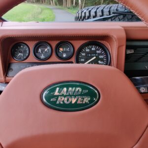 1995 LR LHD Defender 90 Keswick Green Soft Top A no top speedo and steering wheel