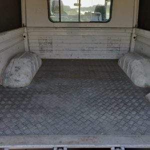 1993 LR LHD Defender 130 Tdi White NL A inside loadfloor