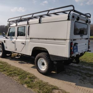 1993 LR LHD Defender 130 Tdi White NL A left rear