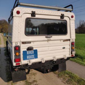 1993 LR LHD Defender 130 Tdi White NL A rear