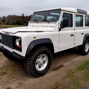 1994 LR LHD Defender 110 White 300 Tdi Alloy right front