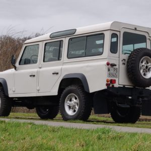 1994 LR LHD Defender 110 White 300 Tdi Alloy right rear low