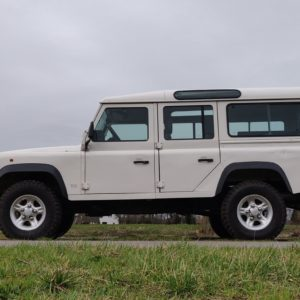 1994 LR LHD Defender 110 White 300 Tdi Alloy right side low