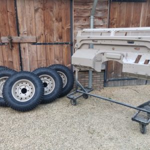 1992 LR LHD Defender 110 5 dr Tdi Cappuchino panels bulkhead and wheels