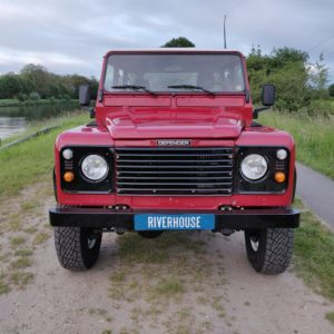 1996 LR lHD D130 300 Tdi Red front