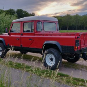 1996 LR lHD D130 300 Tdi Red left rear