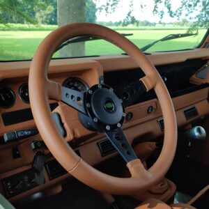 2003 LR LHD Defender 110 Td5 Soft Top Grey A leather steering wheel MOTOLITA