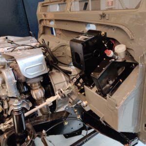 2003 LR LHD Defender 110 Td5 Soft Top Grey building 2 bulkhead pedal box