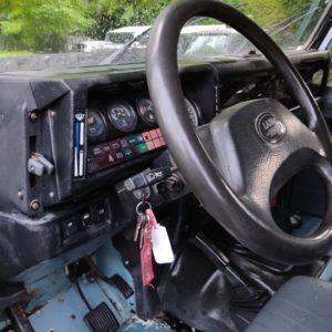 1993 LR LHD Defender 130 Crewcab V8 steering wheel