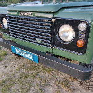 1996 LR LHD Defender 130 Conisten Green grill close