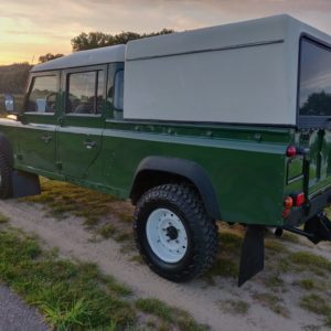 1996 LR LHD Defender 130 Conisten Green left rear