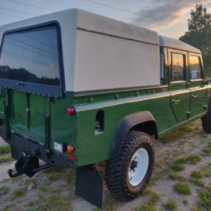 1996 LR LHD Defender 130 Conisten Green right rear