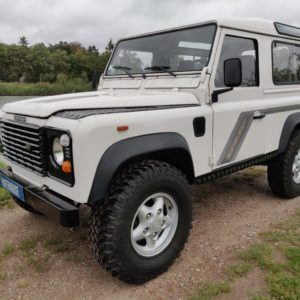 1993 LR LHD Defender 90 200 Tdi White A left front