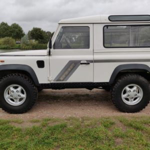 1993 LR LHD Defender 90 200 Tdi White A left side