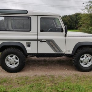 1993 LR LHD Defender 90 200 Tdi White A right side
