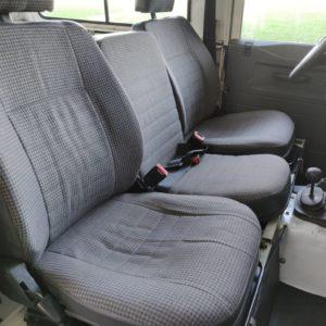 1993 LR LHD Defender 90 200 Tdi White interior front seats