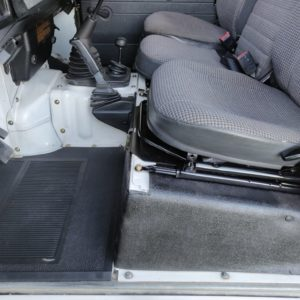 1993 LR LHD Defender 90 200 Tdi White interior seatbase left