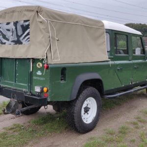 1995 LR LHD Defender 130 300 Tdi Conisten Green right rear