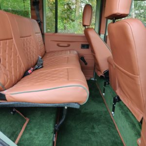 1994 LR LHD Defender 110 300 Tdi A Pastel Green interior 2nd row seat