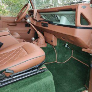 1994 LR LHD Defender 110 300 Tdi A Pastel Green interior dash and trim