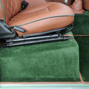 1994 LR LHD Defender 110 300 Tdi A Pastel Green interior seatbase