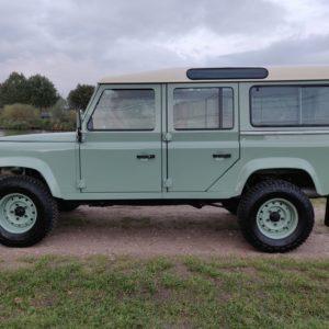 1994 LR LHD Defender 110 300 Tdi A Pastel Green left side