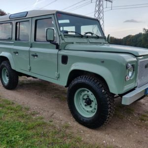 1994 LR LHD Defender 110 300 Tdi A Pastel Green right front