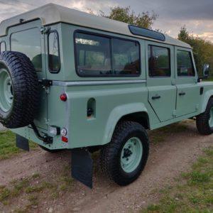 1994 LR LHD Defender 110 300 Tdi A Pastel Green right rear