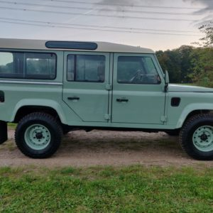 1994 LR LHD Defender 110 300 Tdi A Pastel Green right side