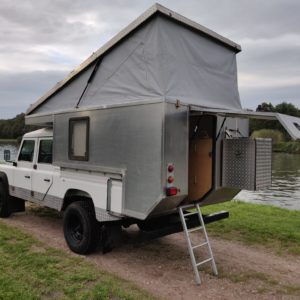 1994 LR LHD Defender 130 300 Tdi CAMPER OPEN left rear