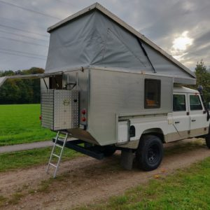 1994 LR LHD Defender 130 300 Tdi CAMPER OPEN right rear