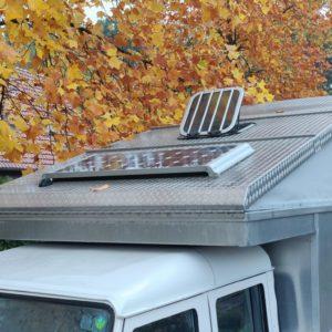 1994 LR LHD Defender 130 300 Tdi CAMPER solar panel