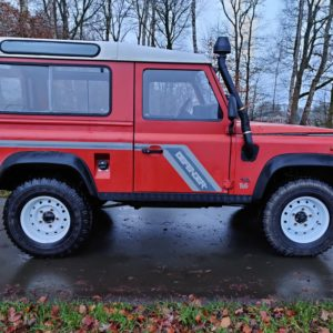 1995 LR LHD Defender 90 SW Red 300 Tdi A right side