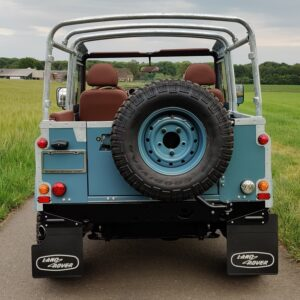 2008 LR LHD Defender 90 Tdci Clipper Blue A HD cage rear