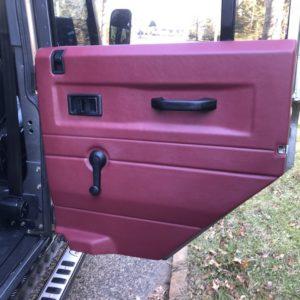 1993 Landrover Defender 110 Silver 200 Tdi interior door card rear RH