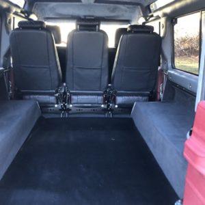 1993 Landrover Defender 110 Silver 200 Tdi interior loadfloor