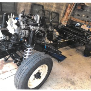 1993 Landrover Defender 110 Silver 200 Tdi stripped and building the frame