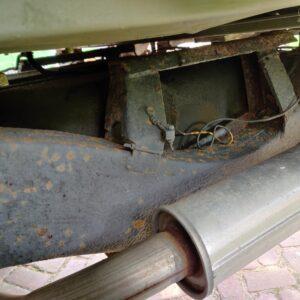 1985 LR RHD Landrovr 127 Green A chassis left rear rear